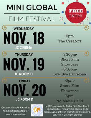 Global Film Club: Mini Global Film Festival 11/18-11/20