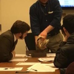 History Class Does Research with Historical Documents at Library of Congress
