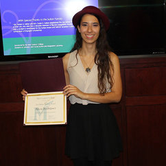 Alicia Rodriguez Receives Jon Sultan Writing Award