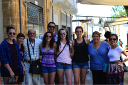 Mason students with Professor Nicholaides (back row) in Cyprus.