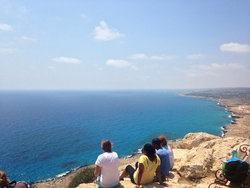 Mason students enjoy the Cyprus sun.