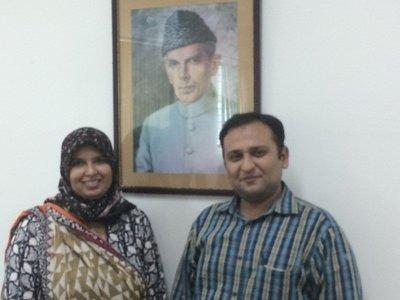 Tehmina Faisal and Mustafa Hyder