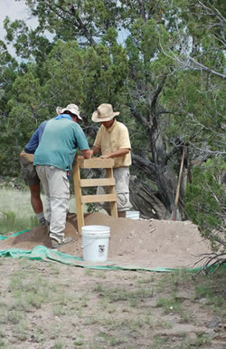 Field team at work during the 2006 excavations