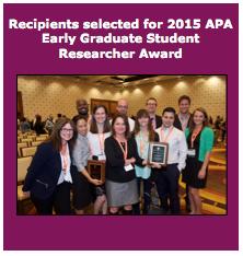 APA Early Graduate Student Researcher Award