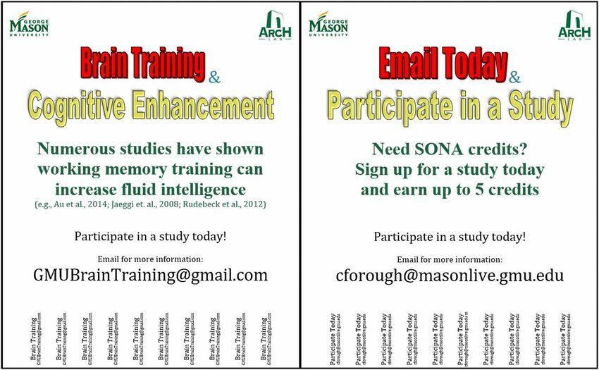 Brain Training Test Flyer