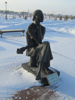 """Struggle and Hope"" by sculptor Zhenis Moldabaev, at the Alzhir Museum, Kazakhstan"