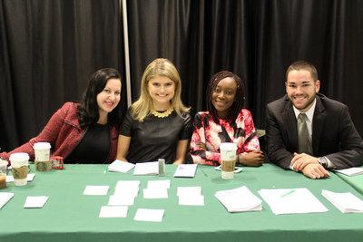 Four participants at a table