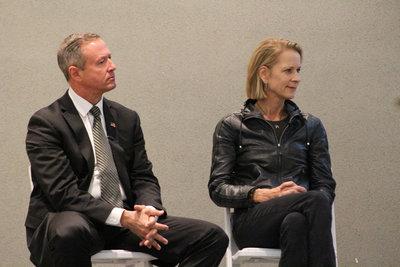 Panelists listening