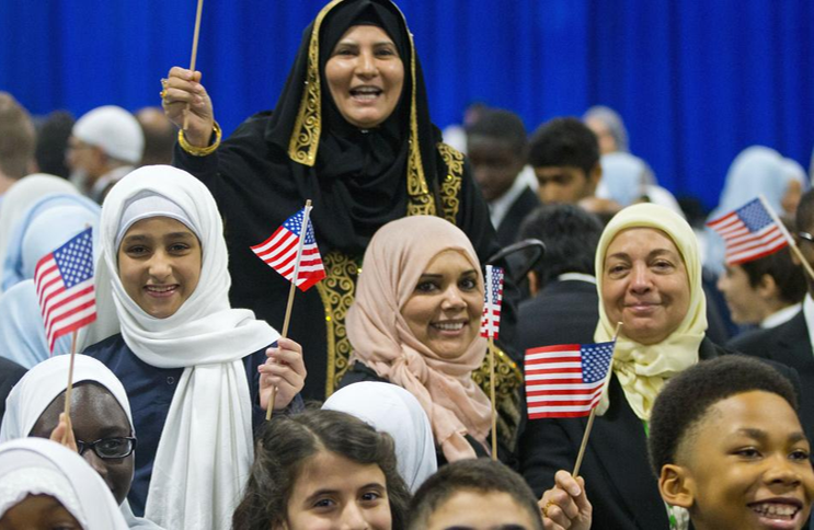 Muslim Americans at Naturalization Ceremony