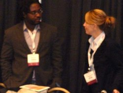 Cochrane's Catherine Gallagher speaks with R. Dwayne Betts from the Campaign for Youth Justice.