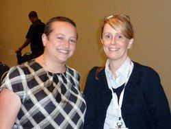 Ilana Brunner, Legislative Director for Bobby Scott's office, and Cochrane's Catherine Gallagher.