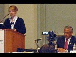 Cochrane's Catherine Gallagher with Representative Bobby Scott (VA-03)