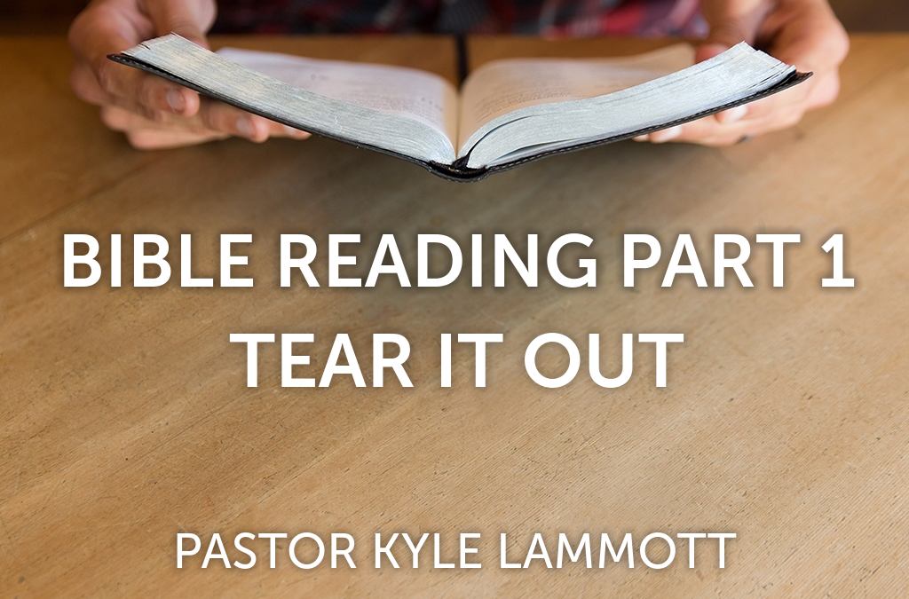 Bible Reading Part 1 – Tear It Out