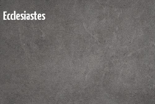 Ecclesiastes banner
