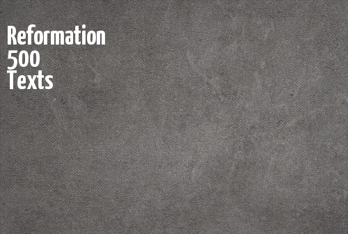 Reformation 500 Texts banner