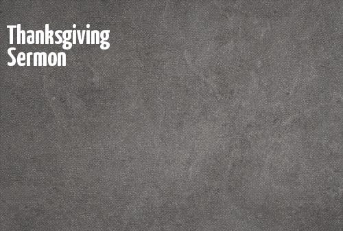 Thanksgiving Sermon banner