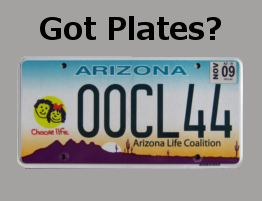Got Choose Life Arizona License Plates?