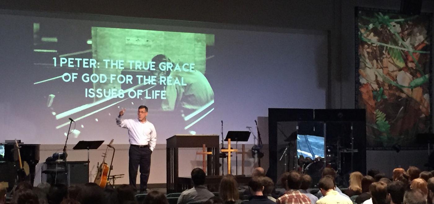 Daytona Beach Church - Larry teaching 2015JAN18.JPG