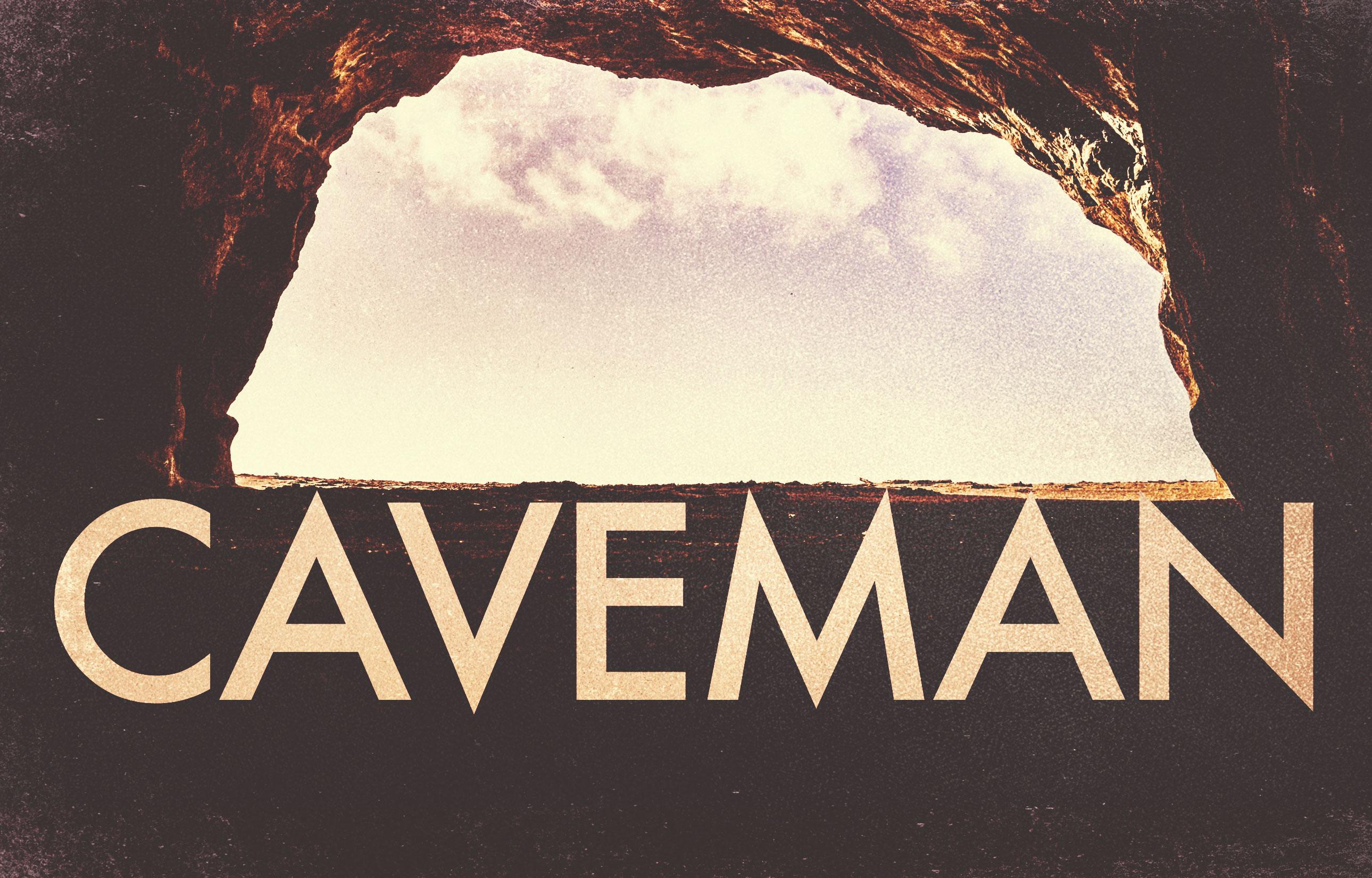 Caveman banner