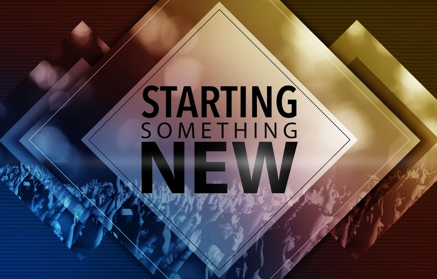 Start Something New banner