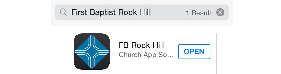 Church App banner