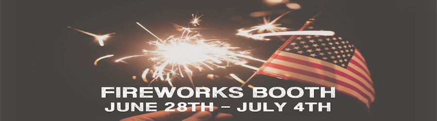 Fireworks Booth Fundraiser banner