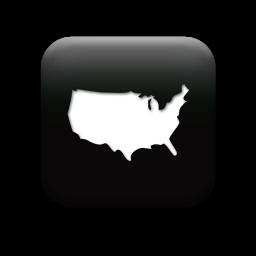 usa map 127015-simple-black-square-icon-culture-map-usa