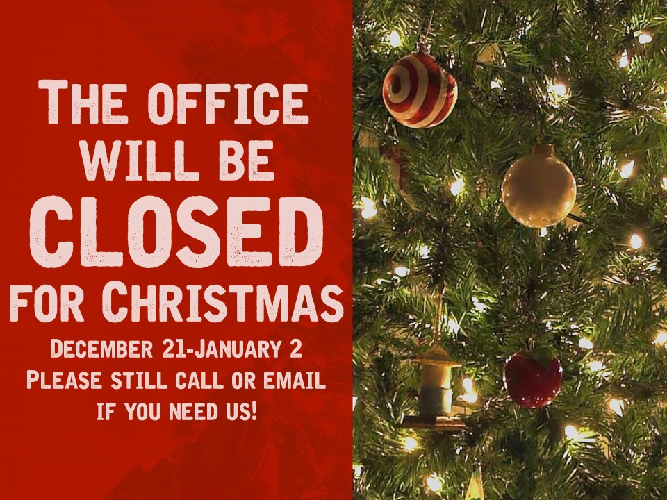 Office closed for Christmas image
