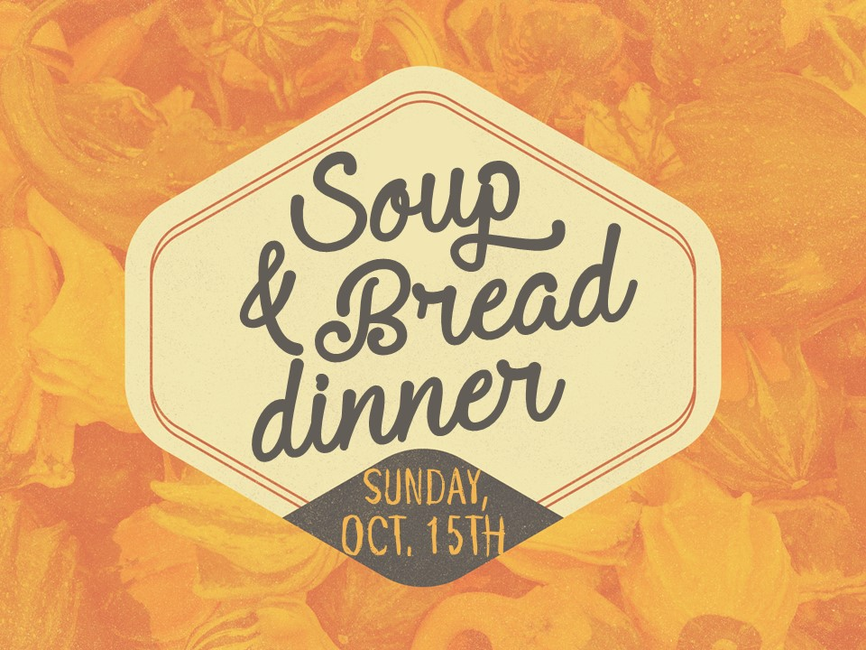 Soup and bread 2017 image