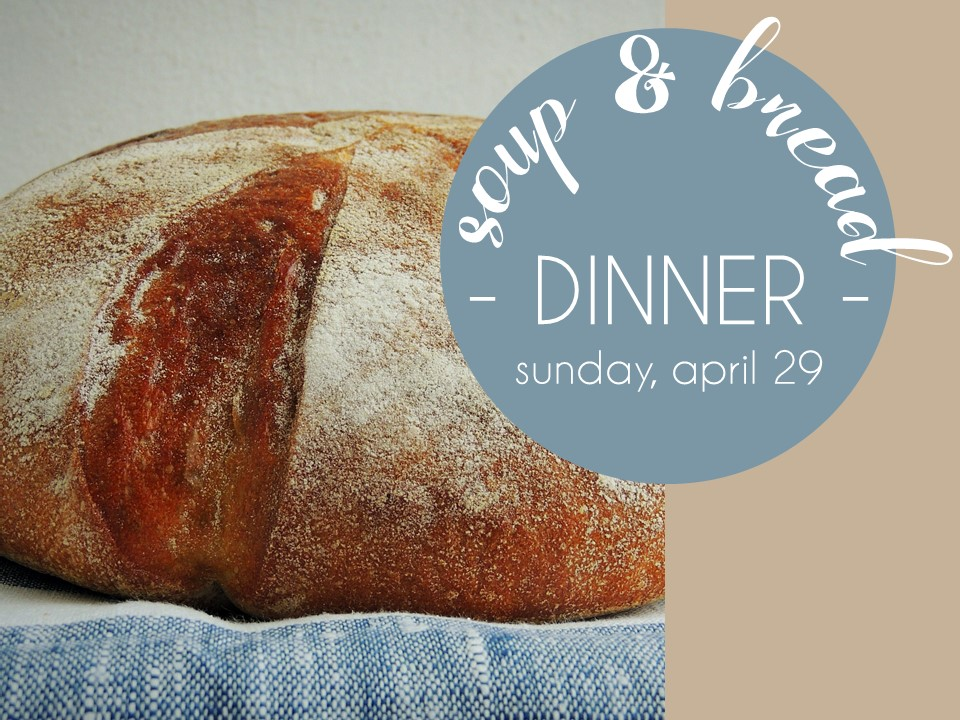 Soup and bread spring 2018 image