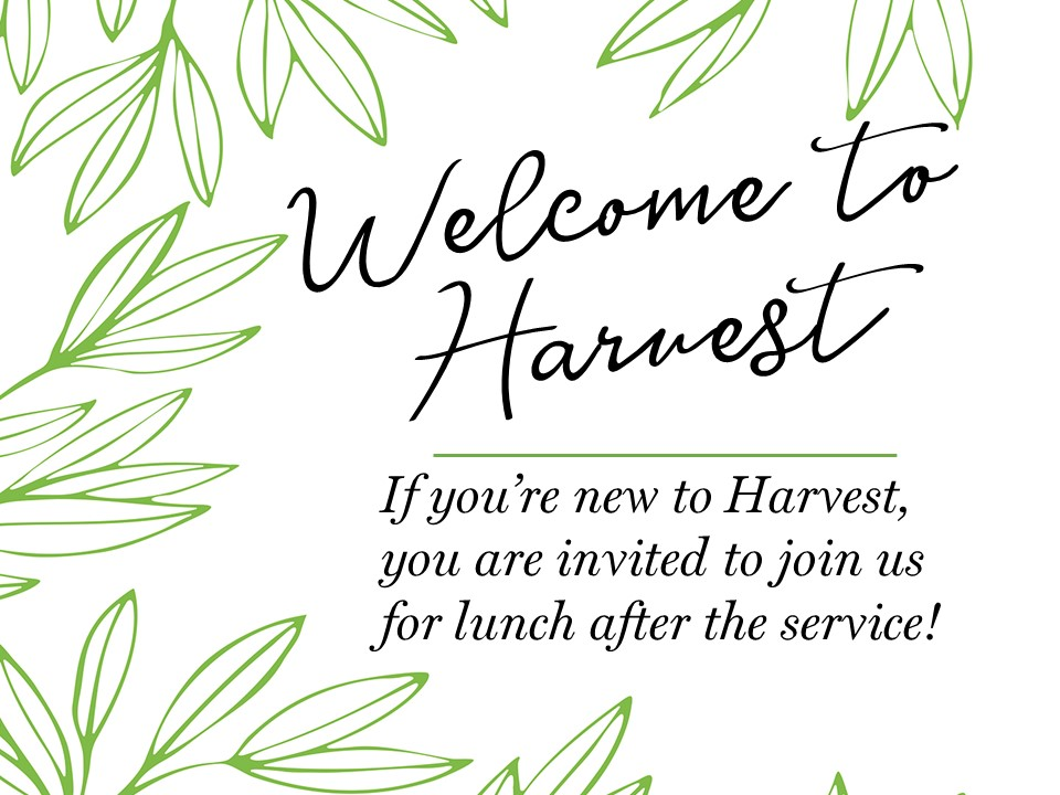 Welcome to Harvest lunch