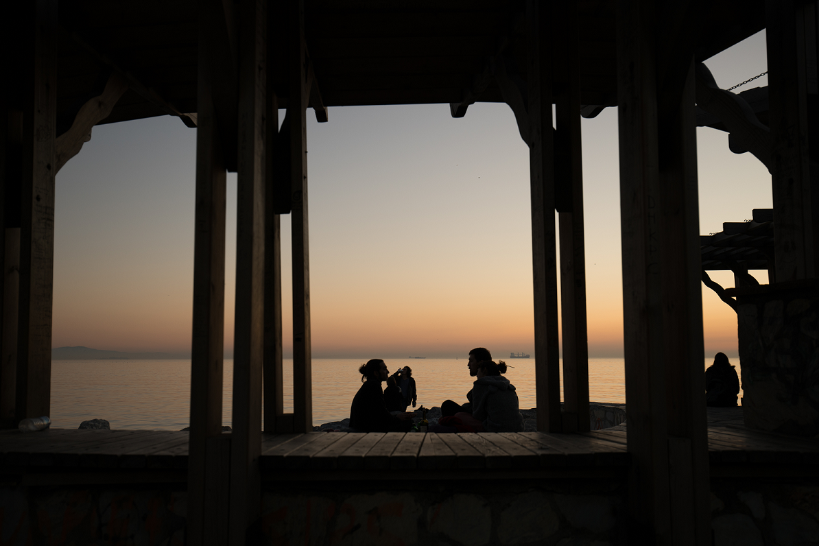 Middle East sunset conversation