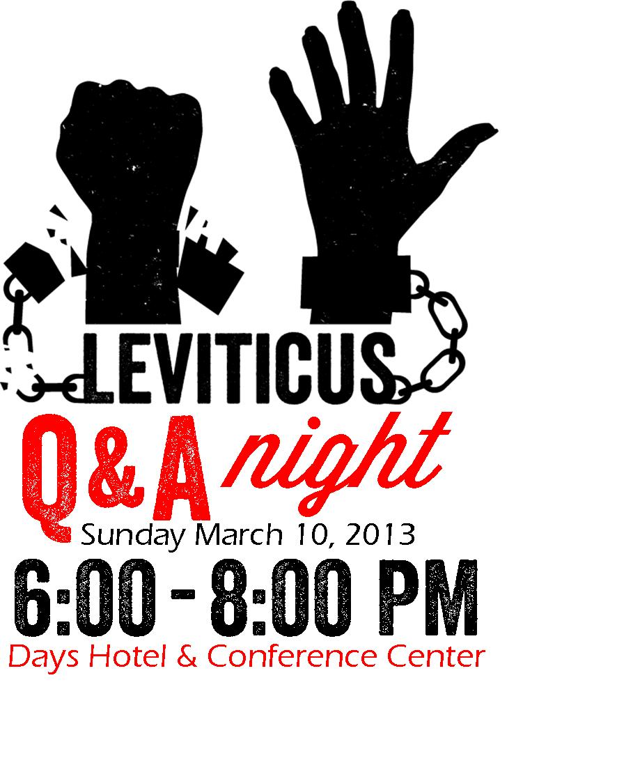 Leviticus Q&amp;A Night Insert