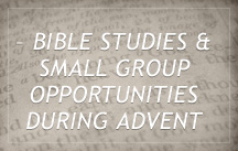 2014 Advent Bible Study and Small Groups