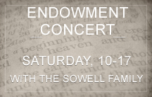 sowell family endowment concert