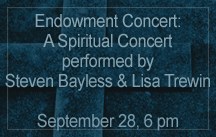 spiritual concert bayless and trewin