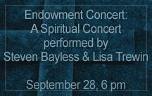 spiritual concert bayless and trewin