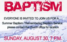 summer baptism service