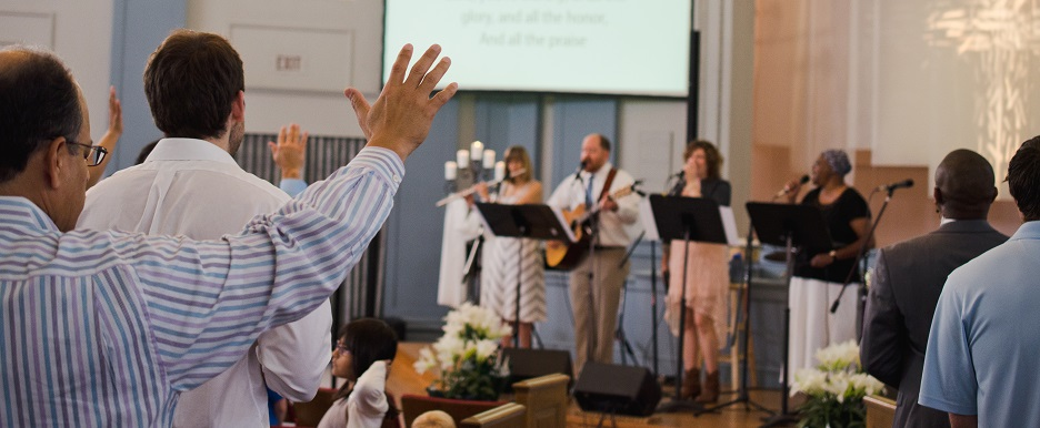 Worship Service banner