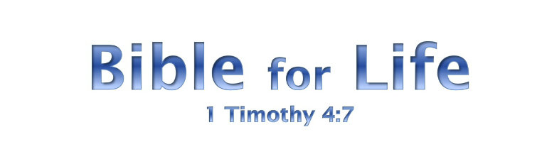 Bible for Life banner image