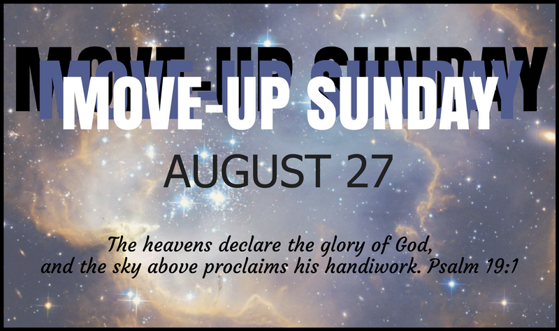 Move-Up Sunday 2017 banner image