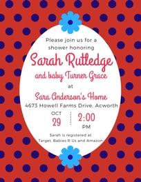 Baby Shower for Sarah Rutledge banner image
