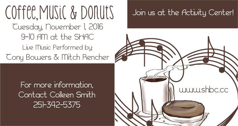 Coffee, Music & Donuts November 2016
