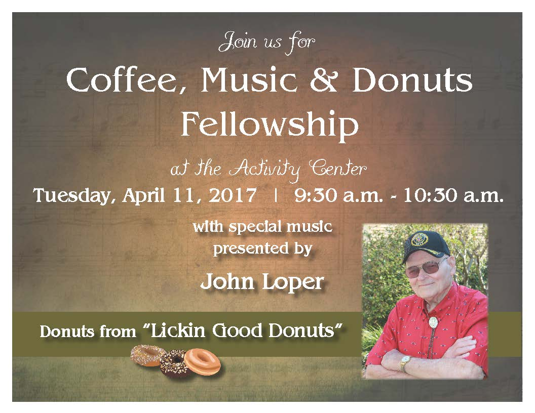 Coffee, Music & Donuts with John Loper