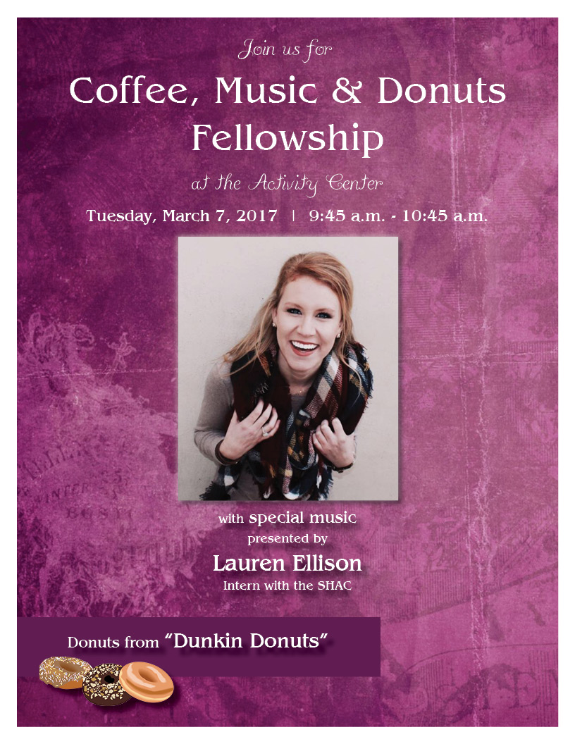 Coffee, Music & Donuts with Lauren Ellison