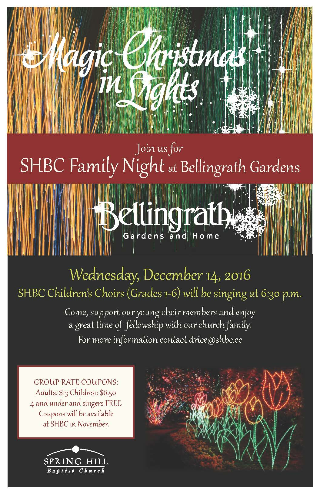 Family Night at Bellingrath 2016