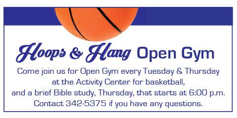 Hoops & Hang, Open Gym and Bible Study2