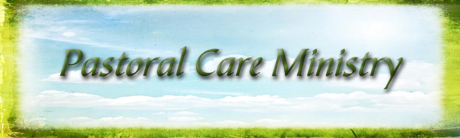 Pastoral Care Ministry banner