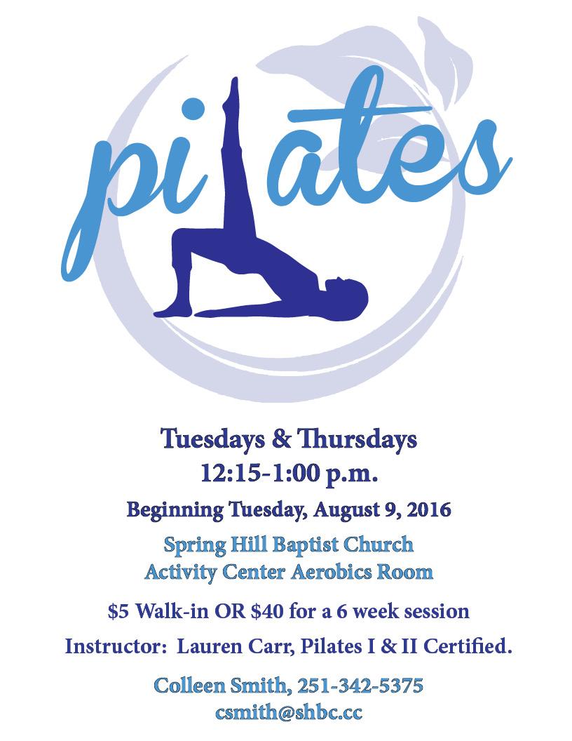 Pilates Beginning August 9