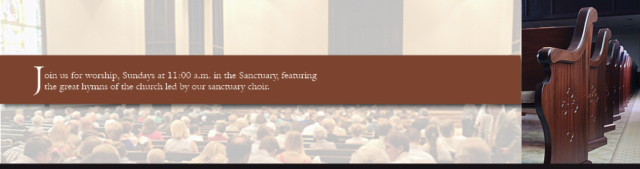 Sanctuary Worship Service banner
